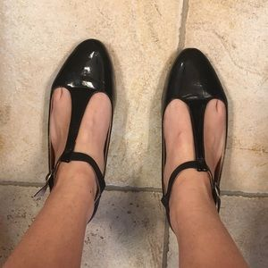 Black T-strap flats from Urban Outfitters